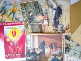 Плакат СССР 8 штук,большой картон,9 мая