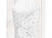 """Конверт-одеяло на выписку """"Звёзды на белом"""""""
