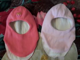 Зимние шапки-шлемы, 1 год, обе 800 руб