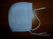 шапка-чепчик вязаный Blue&Pink Knitwear на 6мес