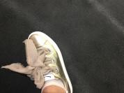 Кроссовки новые Voile Blanche Италия размер 39 золотые кожа обувь