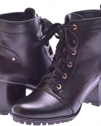 Женские кожаные ботинки на шнуровке (байка/экомех/цигейка)