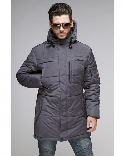 Куртка мужская зимняя 076 Nikolom серая Беларусь