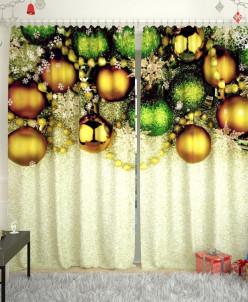 Фотошторы Новогодняя коллекция 141 Габардин