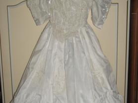Свадебное платье с жемчужной вышивкой