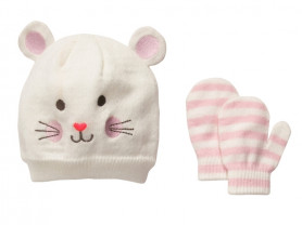 Комплект на весну шапка и варежки Carters 2-3 года
