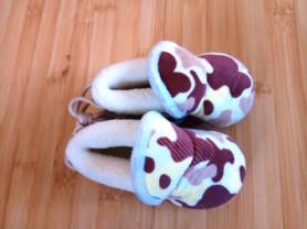 Детские домашние ботиночки, длина 12,5см, новые