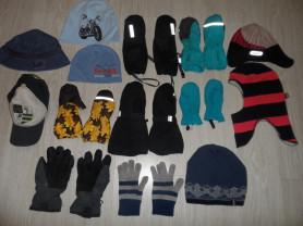 Шапки шлемы краги перчатки варежки панамки
