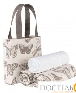 Набор полотенец Бабочки в сумке-3шт 45х70 - 3 шт
