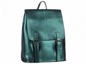 Новый кожаный рюкзак бирюза