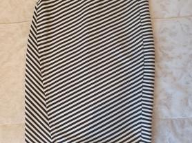 Ассиметричная полосатая юбка Reserved