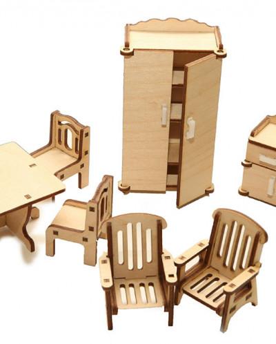 Домик с полным комплектом мебели 6 комнат