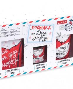"""Подарочный набор из 3 продуктов """"Посылка от Деда Мороза"""""""