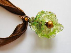 Кулон-ракушка лэмпворк ручной работы