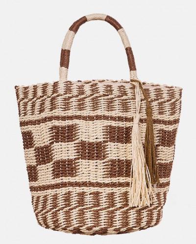Вместительная соломенная сумка MR 2222 2375 0220 Brown