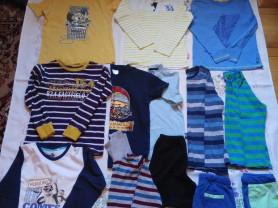 Лонгсливы и шорты, футболки для мальчика