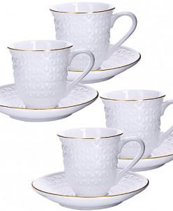 25776 Чайный набор 8пр 240мл фарфор LR (х16)