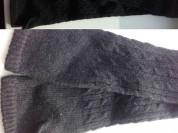 Перчатки длинные новые чёрные шерсть вязаные размер М 44 46 длина выше локтя митенки автоледи без пальцев