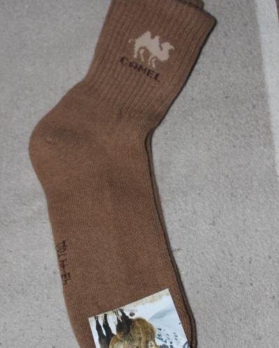 Носки из шерсти верблюда -рыжий, Монголия