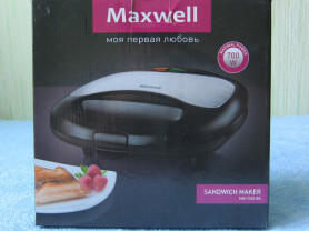 Сэндвичница (тостер) Maxwell MW-1552 BK (новая)