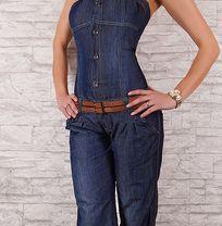 комбинезон из облегчённого джинса, размеры M и L