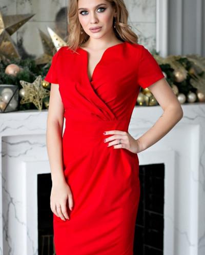 Платье Злата красная (П-26-1)