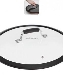 Стеклянная крышка с силиконовым ободом, 28 см, NADOBA, серия