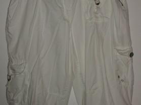 Капри белые с молниями хлопок Shotelli - р. 56-58