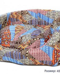 Лежанка для собак и кошек поплин с подушкой 45х35х16