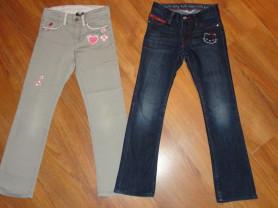 Пакетом фирменные джинсы HM 7-8 128р.