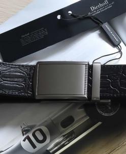 Ремень кожаный брючный автомат Dierhoff ДРА 2061/35