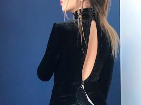 платье в пол на Новый год Elisabetta Franchi