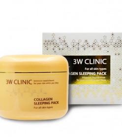 [3W CLINIC] Маска д/лица ночная КОЛЛАГЕН Collagen Sleeping P
