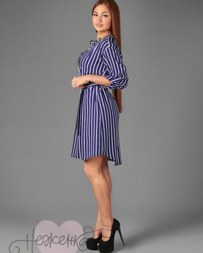 Платье П 684/1 (полоса на синем)
