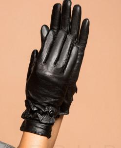 Демисезонные кожаные перчатки