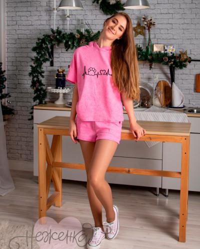 Домашний костюм ЖК 009 (розовый)