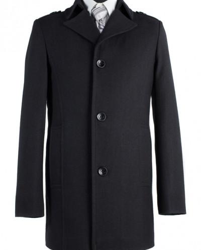 06-0006 Пальто мужское демисезонное (Рост 176) Сукно Черный