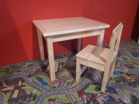 Детский Деревянный комплект стол и стул