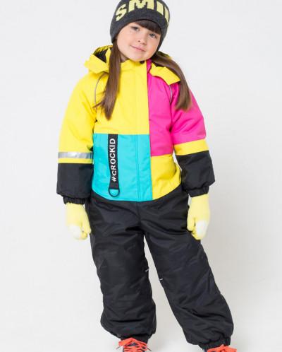 Комбинезон зимний девочка Крокид Crockid зима 19-20
