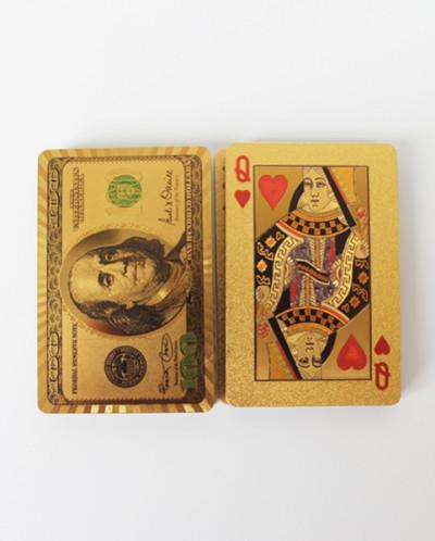 КАРТЫ ИГРАЛЬНЫЕ ПЛАСТИКОВЫЕ PERFECTO, цвет - золотой