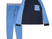 Пижама для мальчика синяя р.146/152 новая
