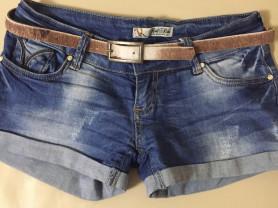 Шорты джинсовые с ремнём