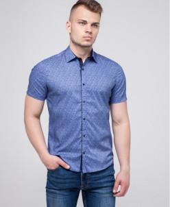 Синяя молодежная рубашка Semco легкая модель