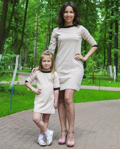 """Комплект платьев Family Look для мамы и дочки """"Шанель"""""""