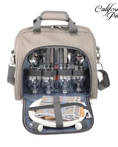 Picnic Basket Tote  Picnic Shoulder Bag Set
