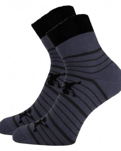 """Подростковые махровые носки """"Человечки"""""""