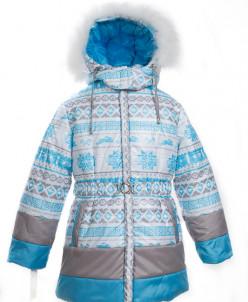 10-0070 Куртка зимняя (синтепон 300) Плащевка Бирюза