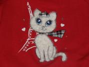 Красный Лонгслив /футболка /блуза (США) 2г