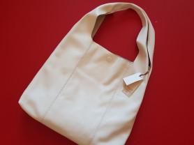Новая белая сумка мешок из натуральной кожи Италия