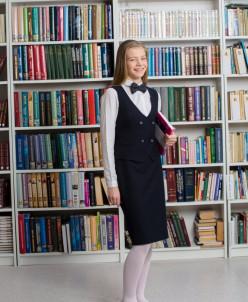 Прямая юбка, зауженная книзу средняя школа